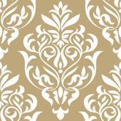 Damask beautiful background with rich, old style, luxury ornamentation, beige fashioned seamless pattern — Stock Vector