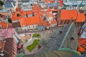 Aerial view of city Riga, Latvia — Stock Photo
