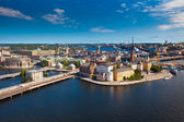Panorama of Stockholm city — Stockfoto