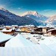 Mayrhofen winter resort in Austria - Stock Photo