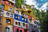 Hundertwasser house in Vienna, Austria — Stock Photo