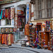Turkish carpets and souvenirs — Stock Photo