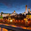 Moscow Kremlin illuminated at night — Stock Photo