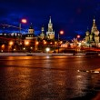 Kremlin and St Basils cathedral night view — Stock Photo