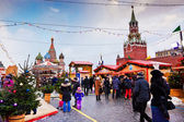 Fair on the Red Square in Moscow — Stock Photo