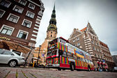 Riga City Sightseeing tour bus — Stock Photo