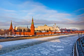 Moscow Kremlin in winter — Stock Photo