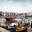 View of historic harbour and old town in Kyrenia — Stock Photo