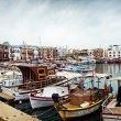 Stock Photo: View of historic harbour and old town in Kyrenia