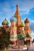 Katedrála svatého basila v moskvě — Stock fotografie