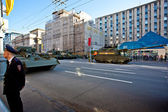 Military parade in Moscow on 9th of May — Stok fotoğraf
