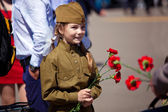 Victory day celebrations in Moscow — Stock Photo