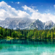 Beautiful lake with mountains in the background — Stock Photo #20087151
