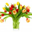 Perfect bouquet of tulips in a vase — Stock Photo