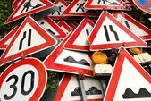 Pile of traffic signs — Stock Photo