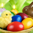 Stock Photo: colorful easter arrangement