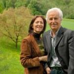 Happy senior couple outdoor — Stock Photo