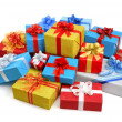 Colorful pile of gift boxes — Stock Photo #34174685