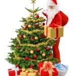 Santa i aktion — Stockfoto