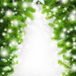 Creative Christmas tree border — Foto Stock