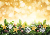 Christmas gold background — Stock Photo