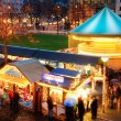 Activities at Christmas market — Stock Photo