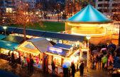 Activities at Christmas market — Stock Photo