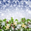 Christmas snowflakes background — Foto de Stock