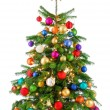Joyfully colorful Christmas tree — Stock Photo