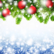 Christmas snowflakes background — ストック写真