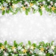 Christmas border background — Stock Photo