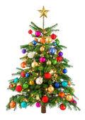 Joyfully colorful Christmas tree — Stock Photo