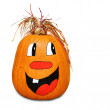 Hilarious happy pumpkin — Stock Photo #6399011
