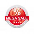 Mega Sale Button - Stock Photo