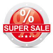 Super sale button — Stock Photo