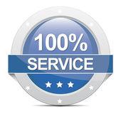100% Service Banner — Stock Photo