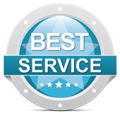 Best service button — Stock Photo