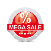 Mega Sale Button — Stock Photo