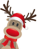 Reindeer red nose hat and scarf — Stock Photo