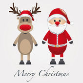 Sonraki Noel Reindeer kırmızı burun — Stok fotoğraf