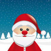 Santa clause figure winter landscape — Stock Photo