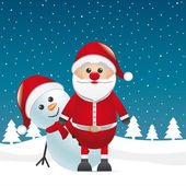 Snowman red nose look santa claus — Stock Photo