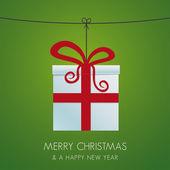 圣诞礼品盒挂 — 图库矢量图片
