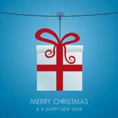 Noel hediye kutusu asılı — Stok Vektör