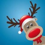 Reindeer red nose scarf — Stock Vector