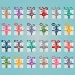 Colorful gift boxes advent calendar blue background — Imagen vectorial