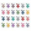Colorful gift boxes advent calendar isolated background — 图库矢量图片