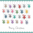 Gift boxes hang on twine advent calendar — 图库矢量图片 #14329585