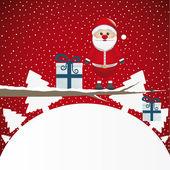Santa figure on branch — Stock Vector