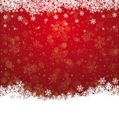 Fall snowflake snow stars red white background — Stock Vector